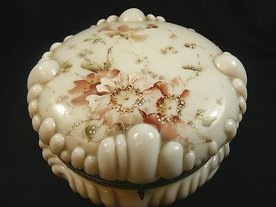 Wave Crest Baroque Shell Puffy Dresser/Jewelry Box...c. F. Monroe...circa: 1890