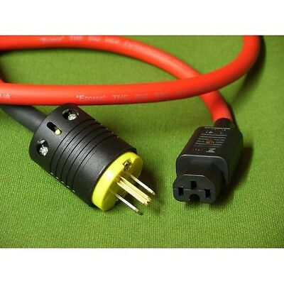 Ecosse Big Red HC Mains Cable-1.6 Metre-UK Mains Plug RRP £460