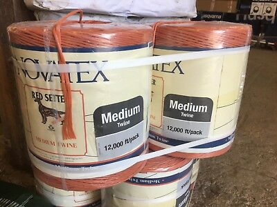 Novatex Red Setter Polypropylene Baler Twine 12000ft/3660metres in total