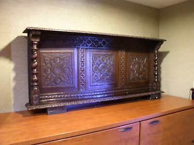 Vintage Hand Carved Wall Shelf / Mantle