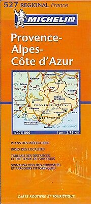 Michelin Map of Provence-Alpes-Cote d'Azur, Michelin Map #527, French Edition
