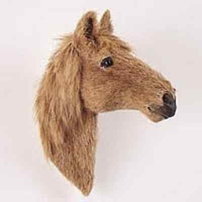 LIGHT BROWN HORSE FUR MAGNET! Start collecting Horses,Dogs, Birds & Animals!