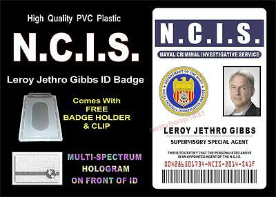 NCIS ID badge / Card Prop (LEROY JETHRO GIBBS) Special Agent - HIGH QUALITY PVC