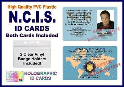 NCIS (Naval Criminal Investigative Service) ID Cards 2 CARDS INCLUDED NAVY TONY