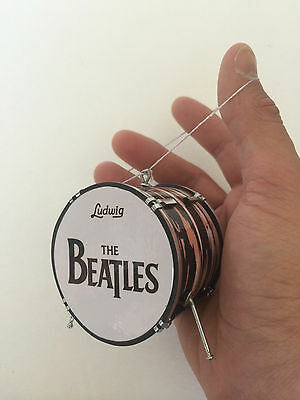 "BEATLES Ringo Starr 2.5"" Mini Drum Ornament - Great for Beatles Fans"