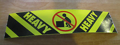 Heavy Caution Sticker Decal for Road Case or Shipping Box, Ships Worldwide