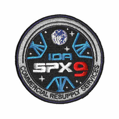SpaceX  CRS-9 SpX-9 Patch ISS Cargo Resupply Mission IN STOCK