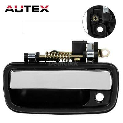Black and Chrome Outer Exterior Front Left Door Handle For 1995-04 Toyota Tacoma