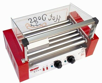 Commercial Stainless Steel Electric Hotdog Grill, Hot Dog 7 Rollers