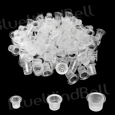 100,200,300,400,500,1000 pcs Ink Caps Plastic Cups Tattoo Supplies(#9, #12, #15)