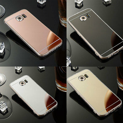 Luxury Ultra-thin Soft Silicone TPU Mirror Case For Samsung Galaxy S6 S7 Edge +