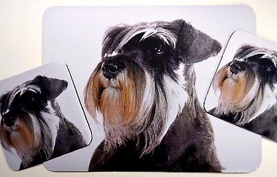 3 pc Set Dog Lover Mouse Pad 9x7 + 2 Coasters SCHNAUZER Puppie Little Gifts