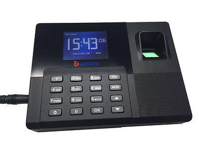 "2.8"" LCD Backup Battery Fingerprint Office Time Clock Attendance with TCP/IP A9"