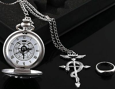 Anime Fullmetal Alchemist:Brotherhood Cosplay Pocket Watch Three-piece +box