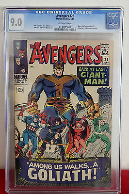 Avengers 28 CGC 9.0 VF/NM 1st app Collector, Ant-Man/Giant Man becomes Goliath