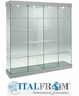 Showcase Shop Display Glass Cabinet with Lights H188xL182xW46 cm Italfrom