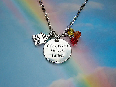 Up Themed Carl & Ellie's Balloon House Adventure Is Out There Pendant Necklace
