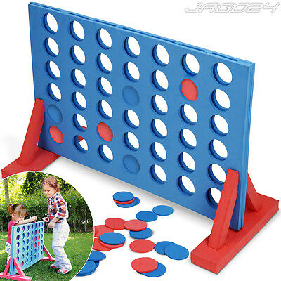 Giant 4 In a Row Connect Board Game Family Fun Garden Outdoor Indoor Party Toy