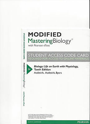 Mastering biology code works for campbell biology 10th mastering modified mastering biology 10th ed audesirk access code only unopened fandeluxe Gallery