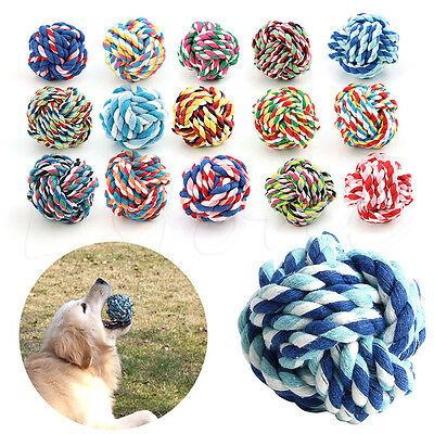 Pet Puppy Rope Dogs Cottons Chews Toy Ball Play Braided Bone Knot For Fun Hot
