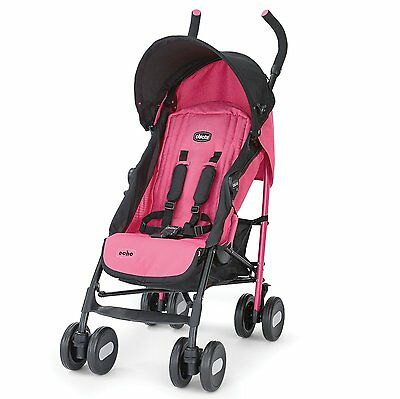 Chicco Bright and Stylish Lightweight Echo Stroller, Dragonfruit | CHI-607931455