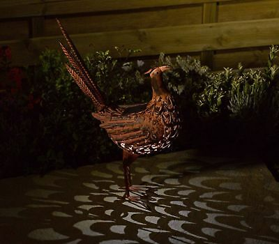 Solar Metal Pheasant Animal Light Garden Patio Path Lighting Ornament 51cm High