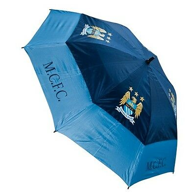 Premier  Licensing - Manchester City Double Canopy Storm Golf Umbrella Boxed