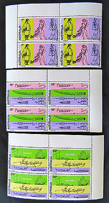 1971 Australian Stamps-28th Int'l Congress of Orientalists-Set of 3 x 4 Tabs MNH