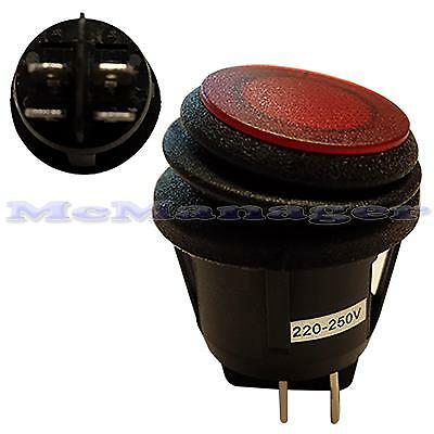 Illuminated Waterproof  Latching  Red Rocker Switch Light IP65