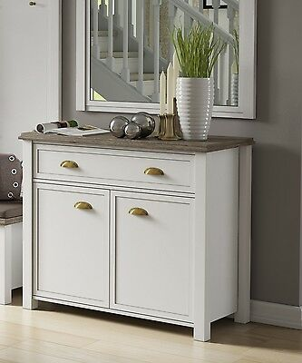 schrank landhausstil sideboard anrichte shabby chic weiss. Black Bedroom Furniture Sets. Home Design Ideas