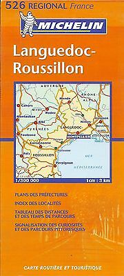 Michelin Map of Languedoc-Roussillon, Michelin Map #526, French Edition