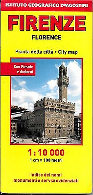 Map of Florence, Firenze, Italy, by Istituto Geografico de Agostini