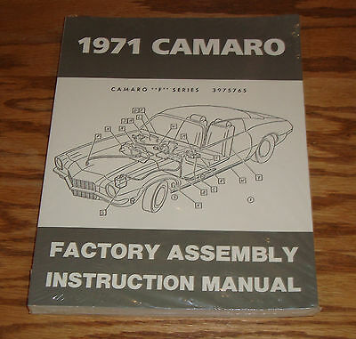 1971 Chevrolet Camaro Factory Assembly Instruction Manual 71 Chevy