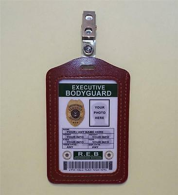 Bodyguard ID Badge >>CUSTOMIZE WITH YOUR PHOTO & INFO<<  EXECUTIVE BODYGUARD ID