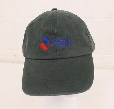 2298729f8 Vail Mountain Resort Black Anvil 100% Cotton Adjustable Size Baseball Cap  NEW