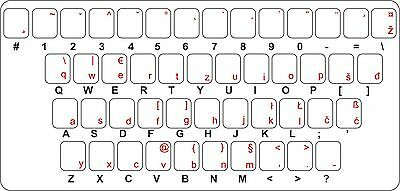 Sticker decal keyboard laptop transparent gaj croatian serbian slovene bosnian