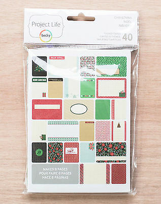 PROJECT LIFE CHRISTMAS 40-PACK Themed Cards scrapbooking 380253