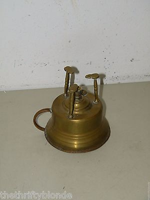 Vintage Brass Burner Warmer Kerosene Light 17726