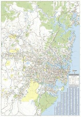 (LAMINATED) Super MAP Of Sydney & Region Giant POSTER (100x140cm) Wall Chart Nsw