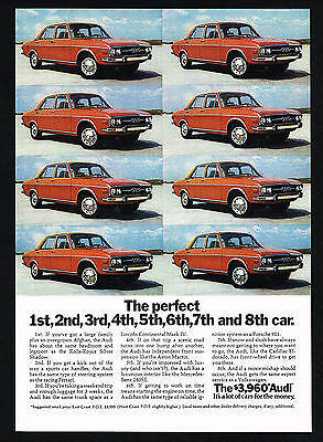 1973 Audi Car Perfect 8 Photo Vintage Color Print Ad