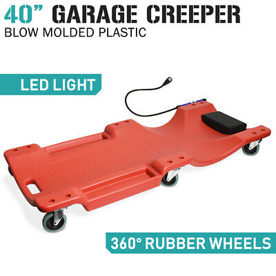"40"" Professional Garage Creeper with light - Workshop Car Auto - Free Freight"