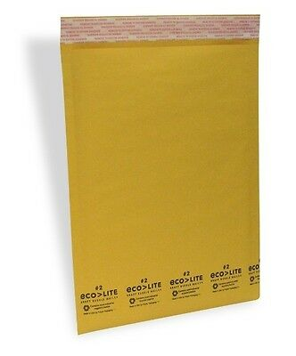 100 #2 Kraft Bubble Mailers - Made in USA - ECOLITE from TheBoxery