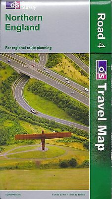 Map of Northern England, Road #4, by Ordnance Survey