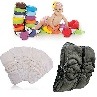 Baby 5Layers Bamboo Charcoal Cotton Diapers Insert Nappy Change Mat Reusable Pad