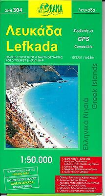 Map of Lefkada, Greece, (Greek Islands) by Orama Maps #304