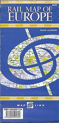 Railway, Rail Map of Europe, by Map Link