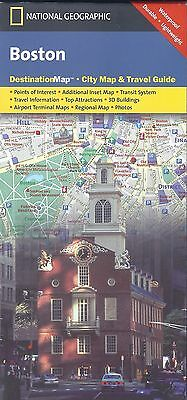 National Geographic Map of Boston, Destination Map City Map & Travel Guide