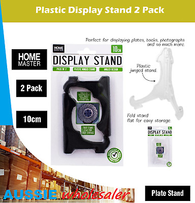 Nice Plastic Display Plate Stand Bowl Picture Frame Photo Book Clear Holder