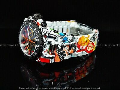 NEW Invicta 52mm Men Limited Ed BLACK LABEL JT CHAOS Ronda Chronograph SS Watch