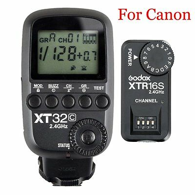 Godox XT32C 2.4G HSS Flash Trigger Transmitter for Canon + XTR-16S Receiver